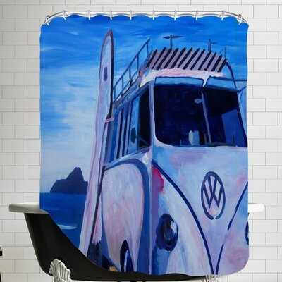 The Volkswagen Bully Series the Bus Shower Curtain