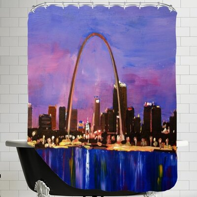 St. Louis Arch Gateway at Sunset Shower Curtain