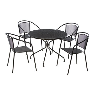 Helena 5 Piece Dining Set Finish: Black Patent