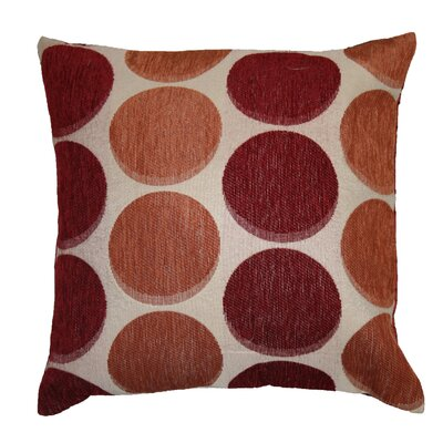 Frank Decorative Throw Pillow Color: Burgundy / Copper