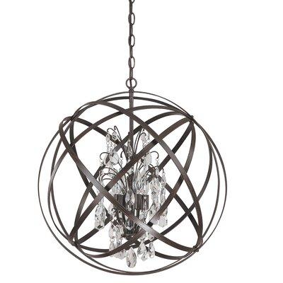 Dorota 4-Light Globe Pendant Finish: Russet