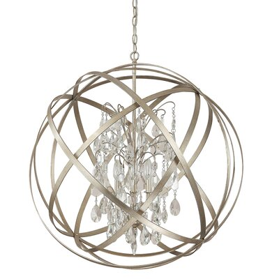 Adcock 6-Light Globe Pendant Finish: Winter Gold