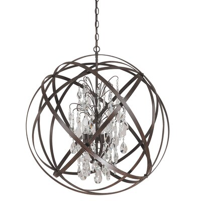 Adcock 6-Light Globe Pendant Finish: Russet