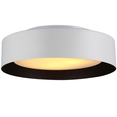 Neophytos 3-Light Flush Mount Finish: White and Black