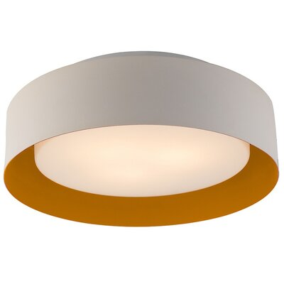 Neophytos 3-Light Flush Mount Finish: White and Orange