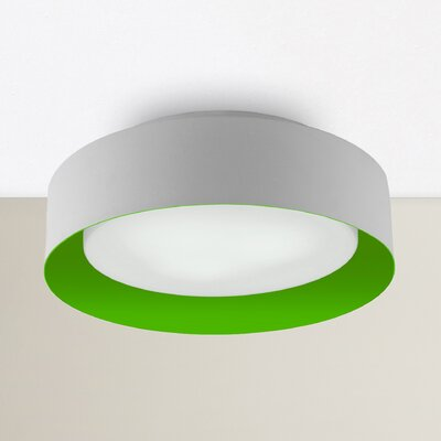 Neophytos 3-Light Flush Mount Finish: Green