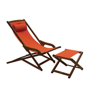 Nicanor Chaise Lounge Finish: Melon
