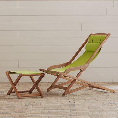 Nicanor Chaise Lounge Finish: Kiwi