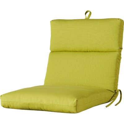 Outdoor Sunbrella Dining Chair Cushion Fabric: Echo Limelight