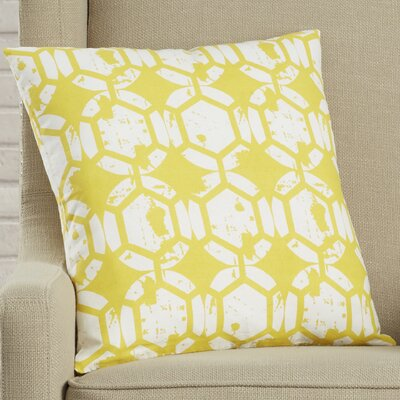 Malissa Throw Pillow with Hidden Zipper Color: Yellow