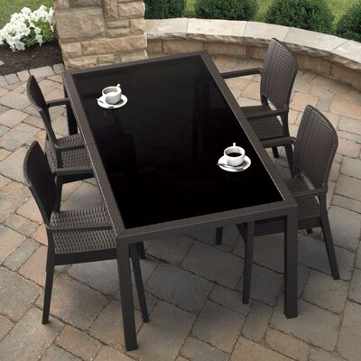 Kassiopeia 5 Piece Dining Set Color: Brown