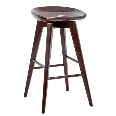 Venus 29 inch Swivel Bar Stool Finish: Cappuccino