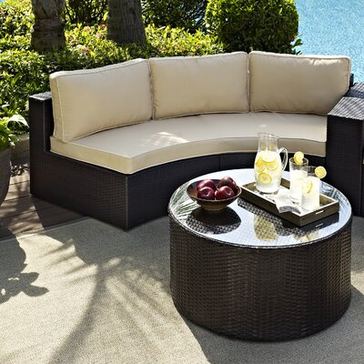 Cleopatra 2 Piece Deep Seating Group with Cushion