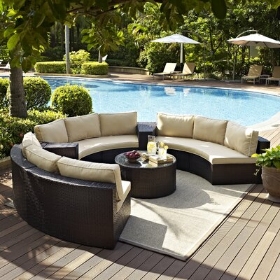 Cleopatra 6 Piece Deep Seating Group with Cushion