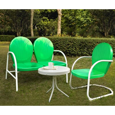 Timothea 3 Piece Lounge Seating Group Finish: Grasshopper Green