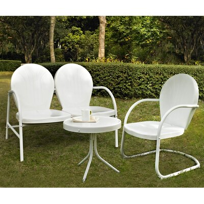 Timothea 3 Piece Lounge Seating Group Finish: White