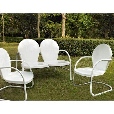 Timothea 3 Piece Lounge Seating Group Finish: White