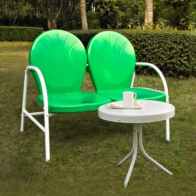 Timothea 2 Piece Lounge Seating Group Finish: Grasshopper Green