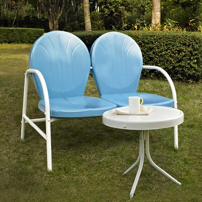 Timothea 2 Piece Lounge Seating Group Finish: Sky Blue