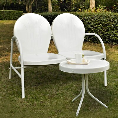 Timothea 2 Piece Lounge Seating Group Finish: White