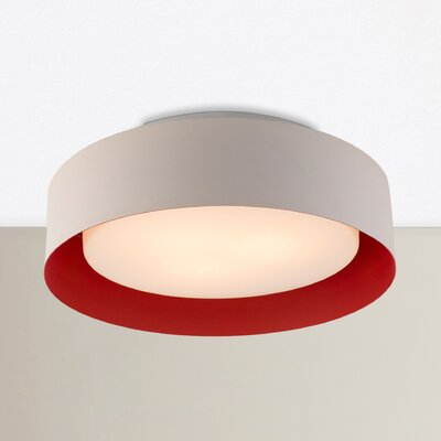 Neophytos 3-Light Flush Mount Finish: Red