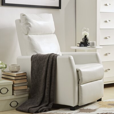 Phoibos Push Back Recliner Upholstery: White