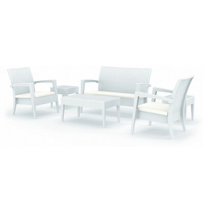 Kassiopeia Miami 6 Piece Seating Group Finish: White