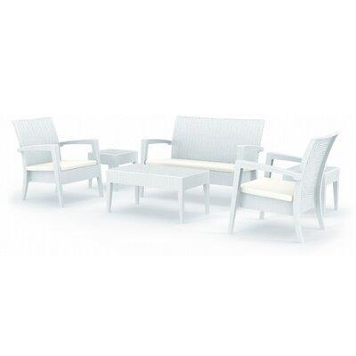 Kesler 6 Piece Seating Group Finish: White