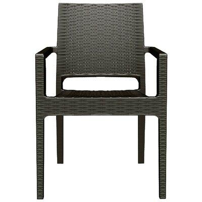 Brayden Studio Kesler Resin Stacking Dining Arm Chair (Set of 2)