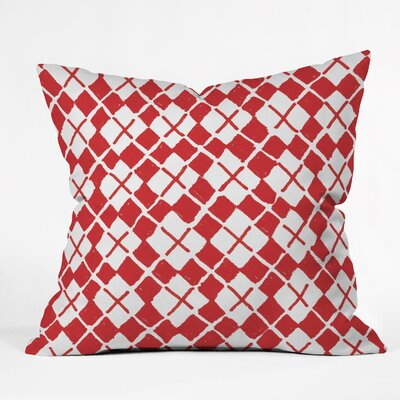 Estes Holiday Argyle Throw Pillow Size: Large