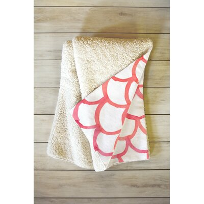 Cosimo Scalloppy Fleece Throw Blanket Size: 60 L x 50 W