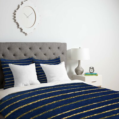 Vasta Nautical Sparkle Duvet Cover Size: Twin, Fabric: Lightweight