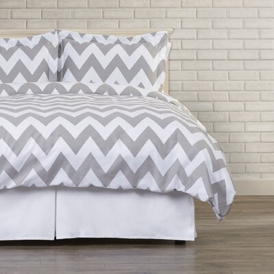Dion Duvet Cover Set Size: Full / Queen, Color: Feather Gray