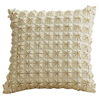 Mcculley Wool Throw Pillow Size: 18 H x 18 W x 4 D, Color: Ivory