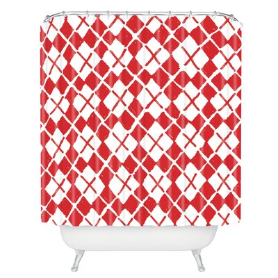 Kessinger Social Proper Holiday Argyle Shower Curtain
