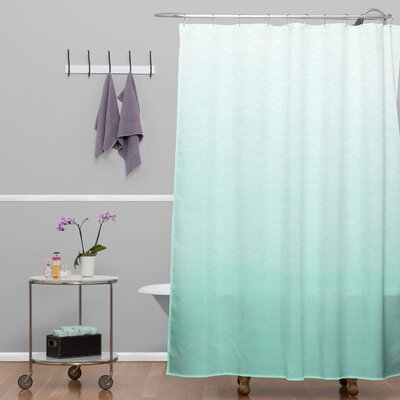 Kessinger Mint Ombre Shower Curtain