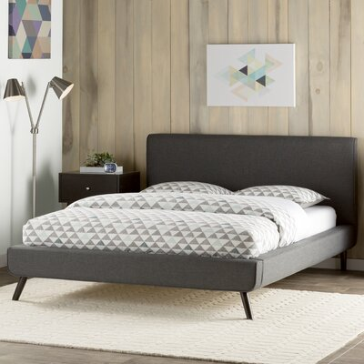 Delve Upholstered Platform Bed Size: King
