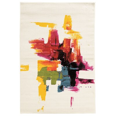 Sonia White Area Rug Rug Size: Rectangle 2 x 3