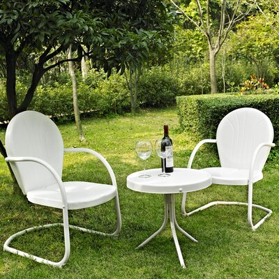 Timothea 3 Piece Seating Group Finish: White