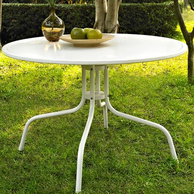Timothea Metal Dining Table in White