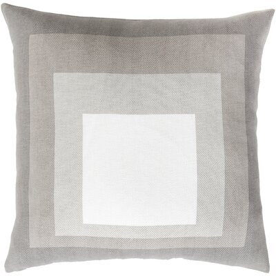 Vasilisa 100% Cotton Throw Pillow Size: 18 H x 18 W x 4 D, Color: Taupe, Filler: Down