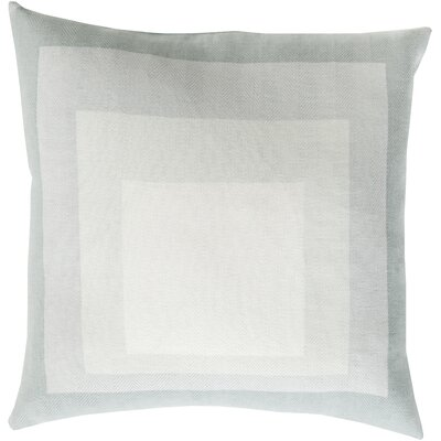 Vasilisa 100% Cotton Throw Pillow Size: 18 H x 18 W x 4 D, Color: Light Gray, Filler: Down
