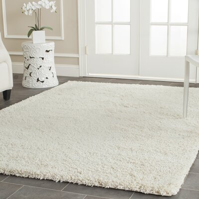 Yoan Shag and Flokati Ivory Area Rug Rug Size: Rectangle 96 x 13