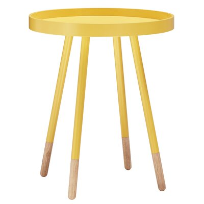 Fortney End Table Finish: Yellow
