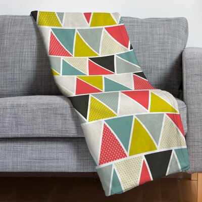 Beil Triangulum Throw Blanket Size: 60 H x 50 W