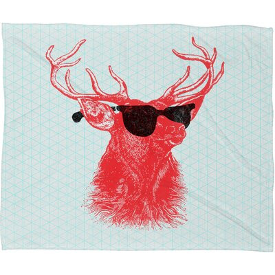 Blaser Young Buck Throw Blanket Size: Small