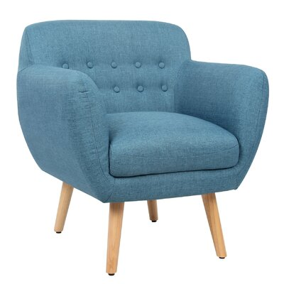 Berenice Arm Chair Upholstery: Cerulean Blue