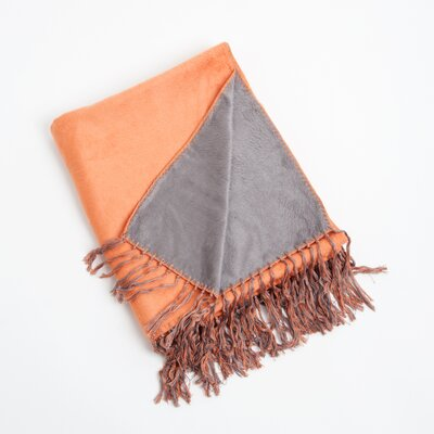 Argus Reversible Throw Color: Persimmon