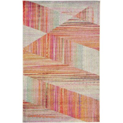 Aristomache Pink Area Rug Rug Size: Rectangle 5 x 8