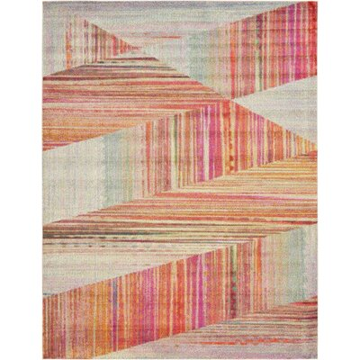 Aristomache Pink Area Rug Rug Size: Runner 27 x 10